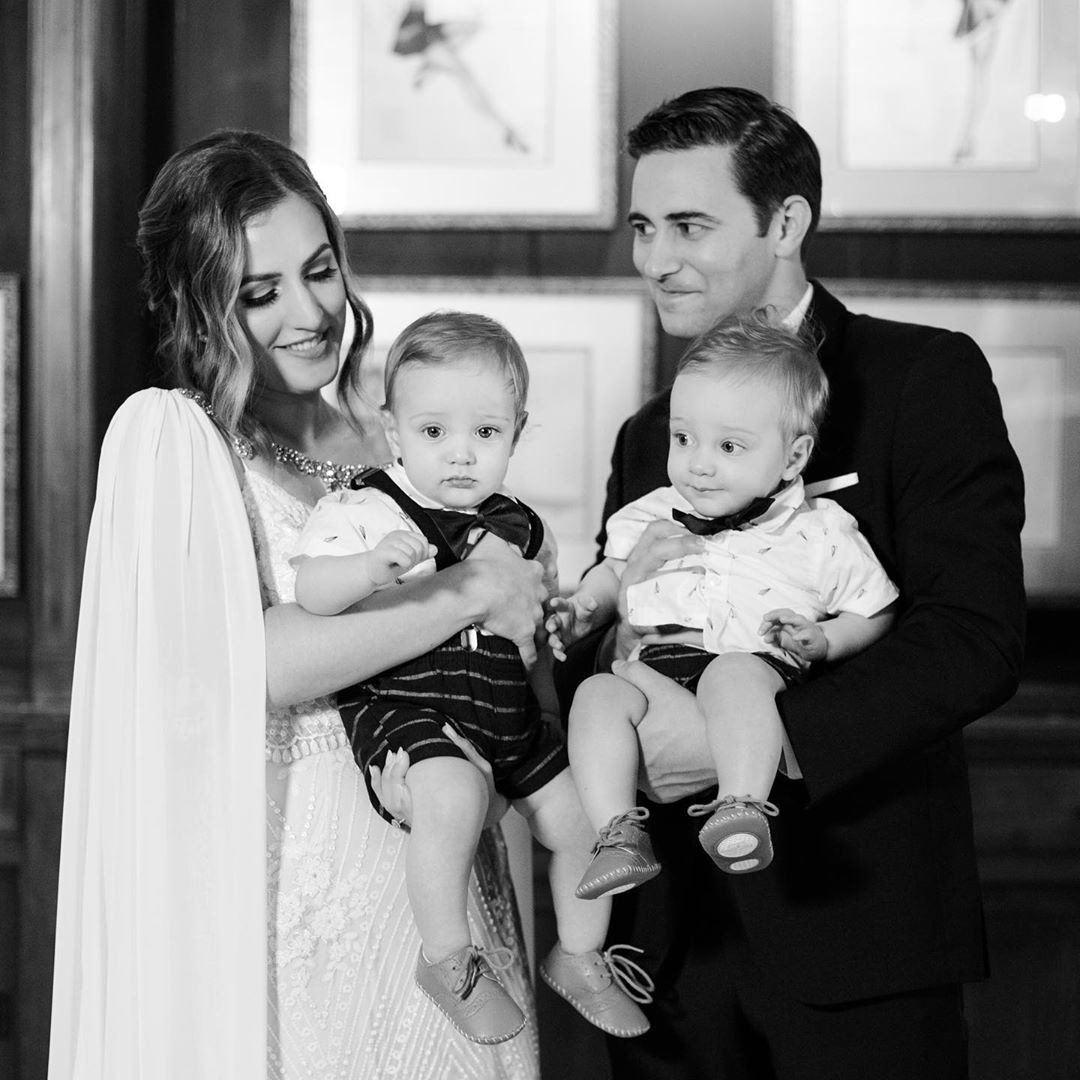 Honestly, we can't stop crushing on these two. Cutest family pic ever! And that cape! 💞