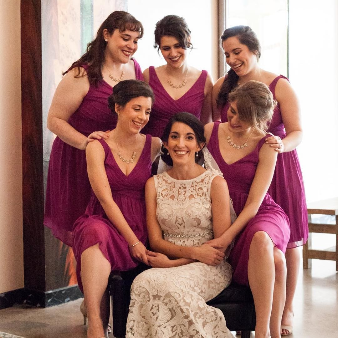 "Loving this bright, colorful, and doting ""I do crew"" pic!"