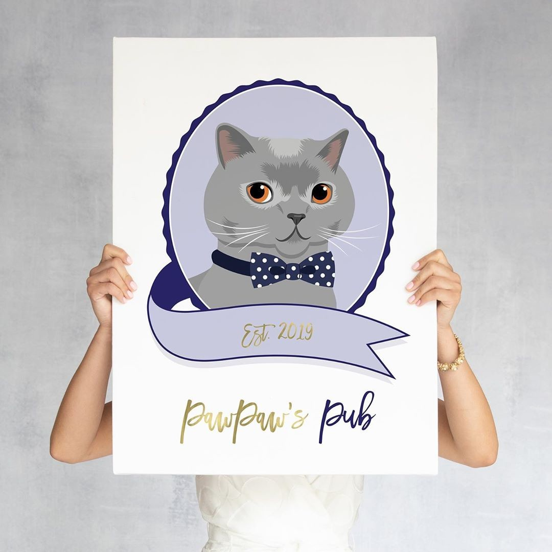 ⁠Whether you want a cute portrait of your pet for your home or plan to use it at your reception at the bar, this custom cocktail