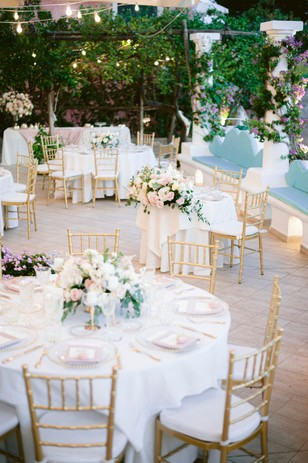 sweet and romantic wedding reception in Italy