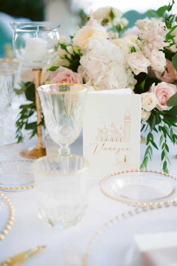 soft gold and white table decor