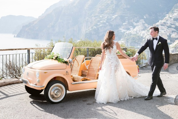 cute little wedding couple in Italy