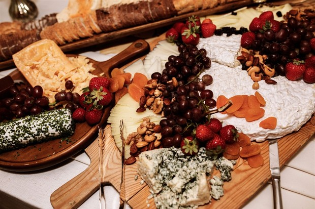 charcuterie board wedding food