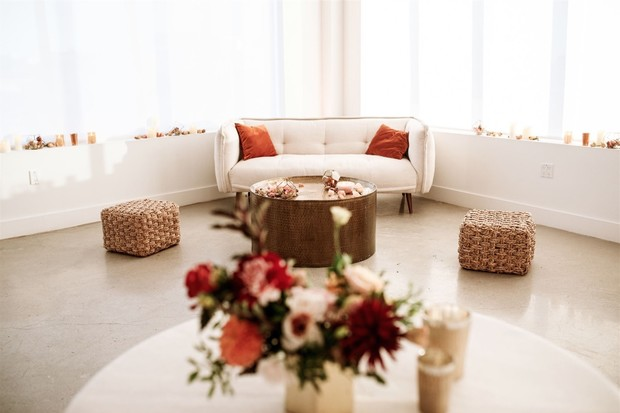 chic boho wedding lounge