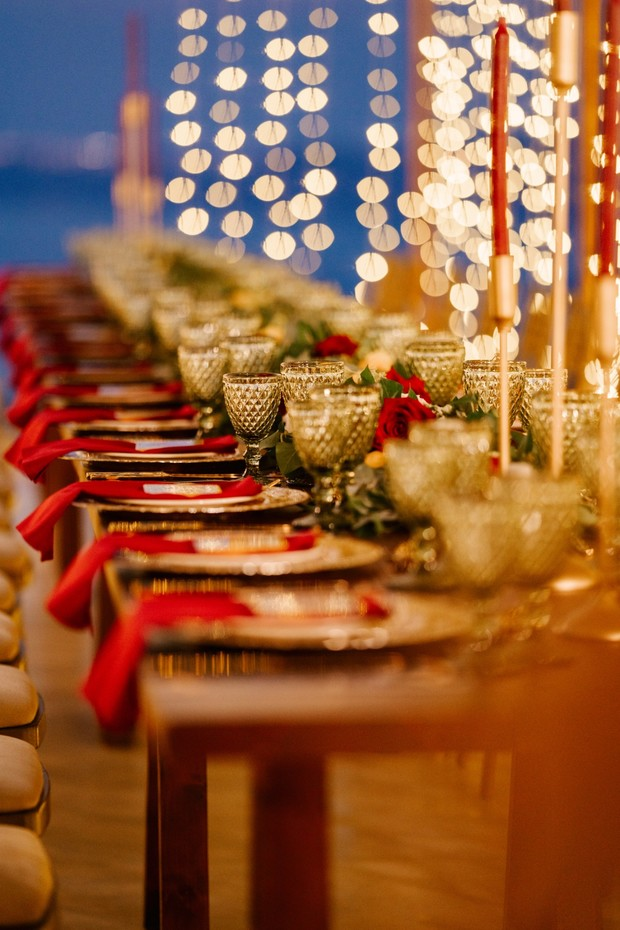 wedding family style reception seating