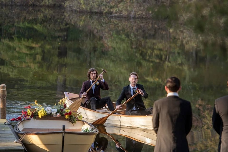 An option is for the groom to arrive via handmade canoe on our private lake. Romantic arrival for the groom!