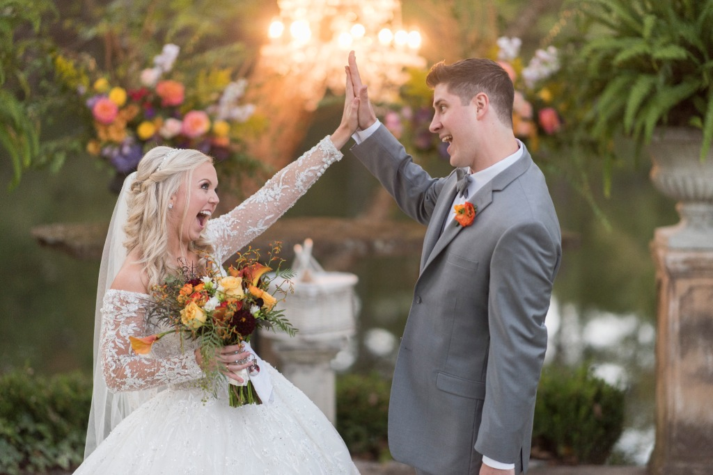 A sweet we did it moment captured by Lori Sparkman photography