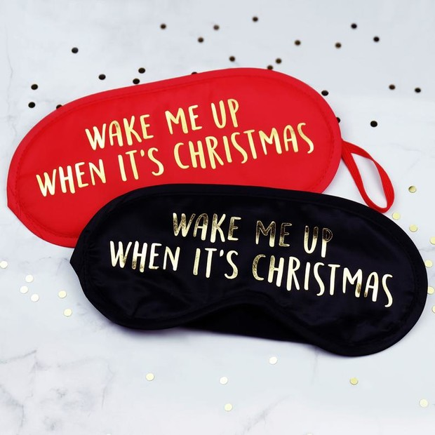 Holiday sleep masks