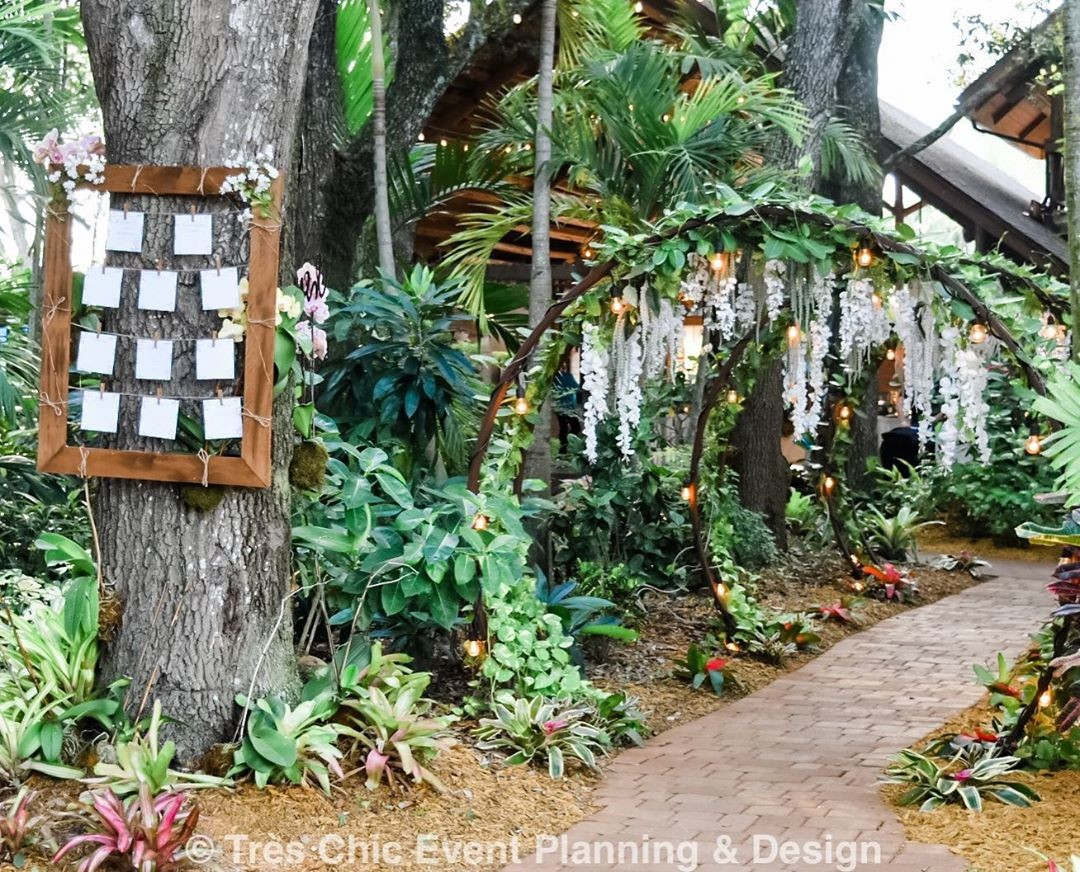 Seating chart was a perfect fit for the outdoor wedding set up at the