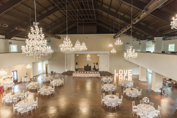 large wedding reception space at Southern Lace Estates