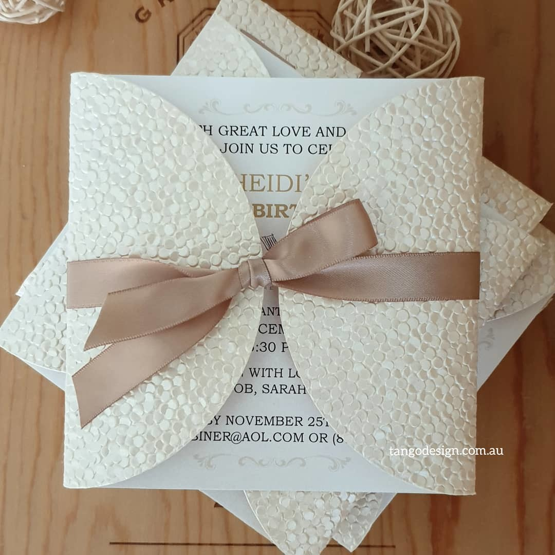 Almost finished! 💓gorgeous champagne invites for a birthday celebration in Santa Monica.