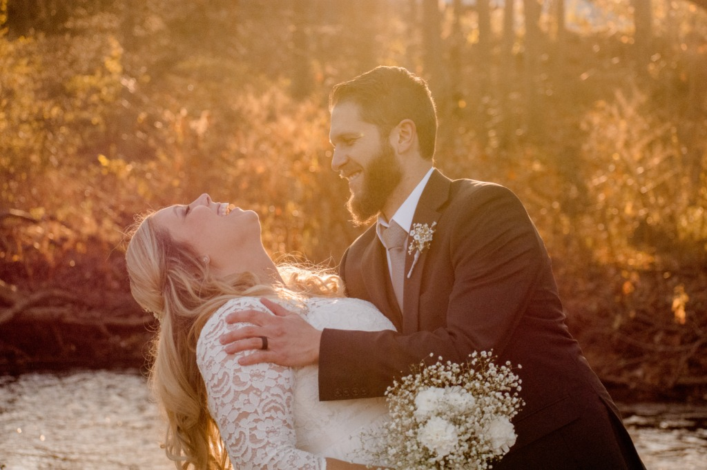 Gorgeous New England Fall wedding in early November. The couple chose a hidden garden that was filled with old memories and invited