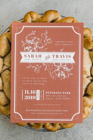 coral wedding invitatioin