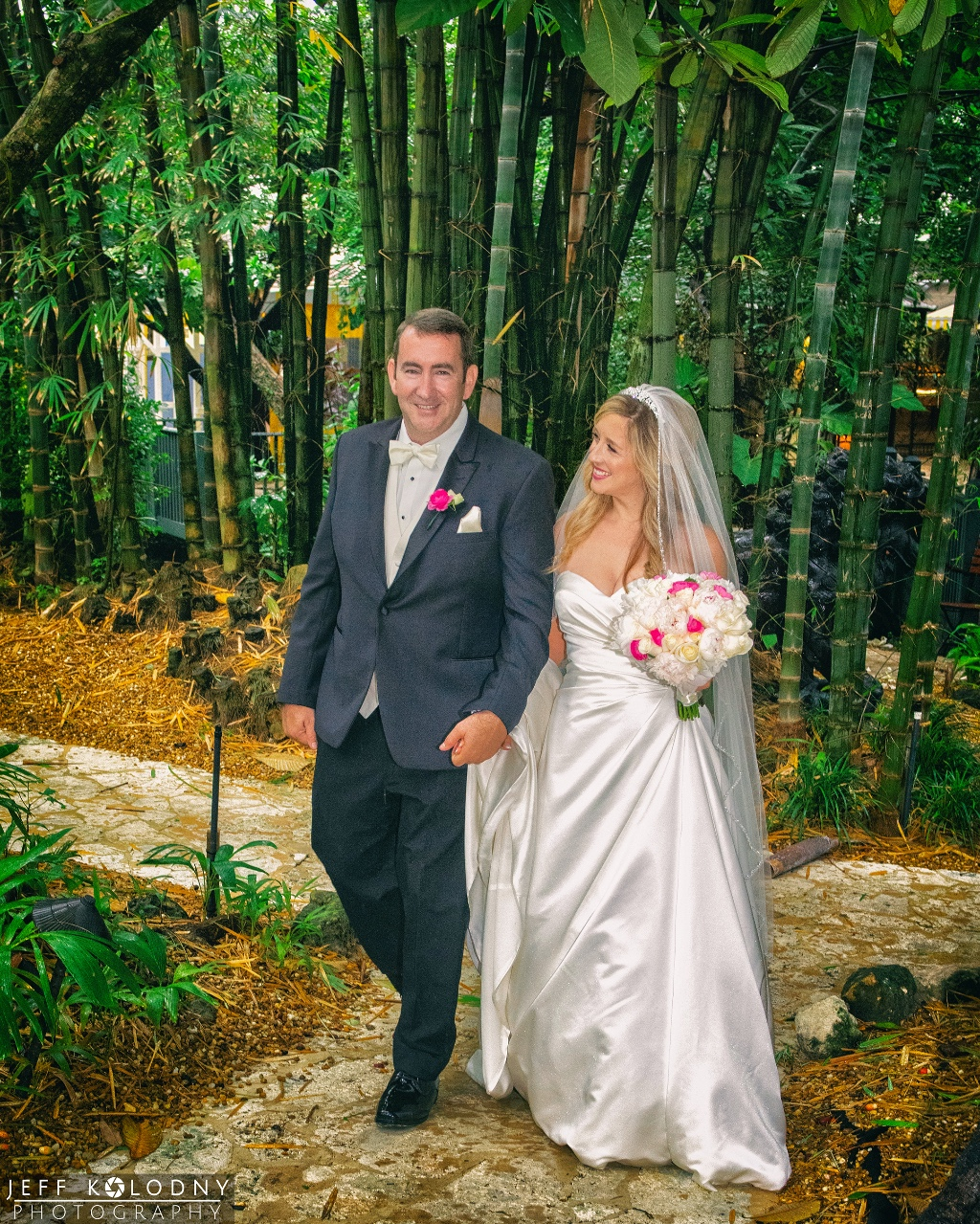 Leigh and Brian and one of South Florida's most beautiful wedding venues.