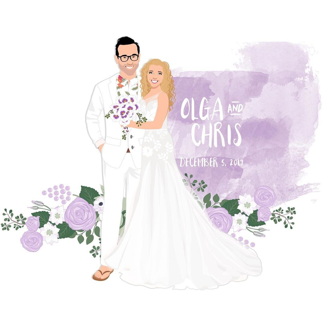 ⁠This couple is lovely in lavender and surrounded by flirty florals! 💐 We are loving the chill vibes these two give off! (Do you