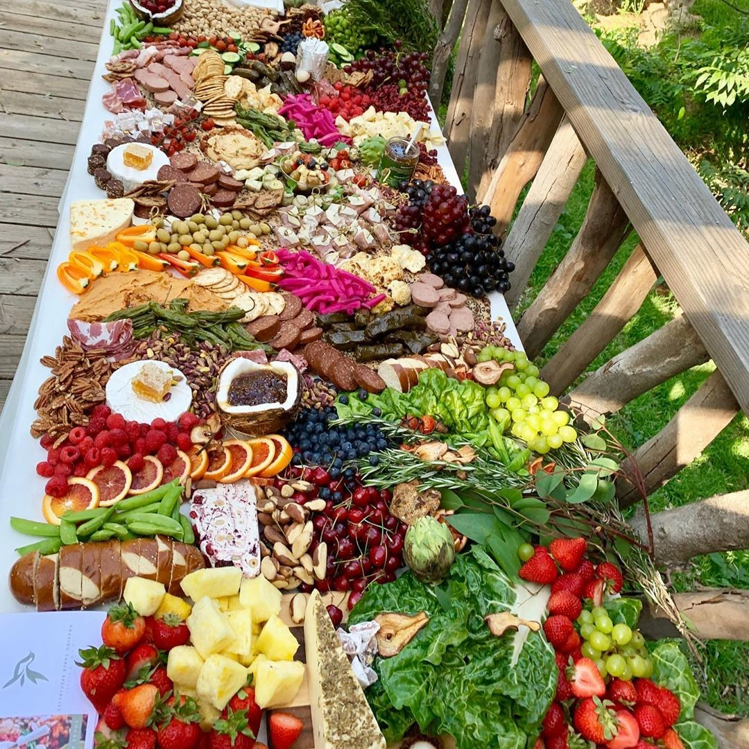 Our first grazing table at a farm. #nailedit .