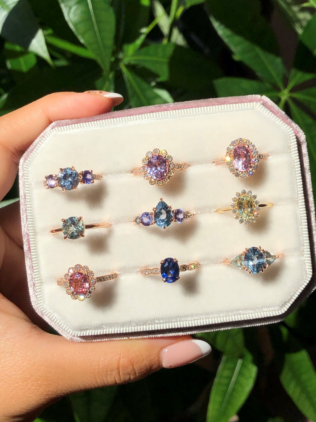 We cannot just pick one since each of them looks so exquisite and gorgeous! Here are our One Of A Kind Sapphire Engagement Rings different