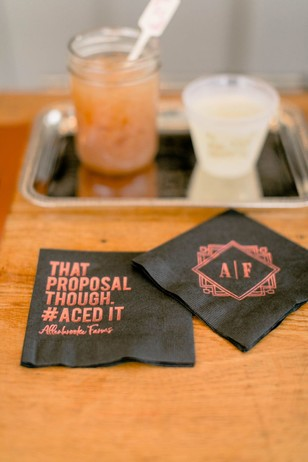 cute custom cocktail napkins for your wedding day