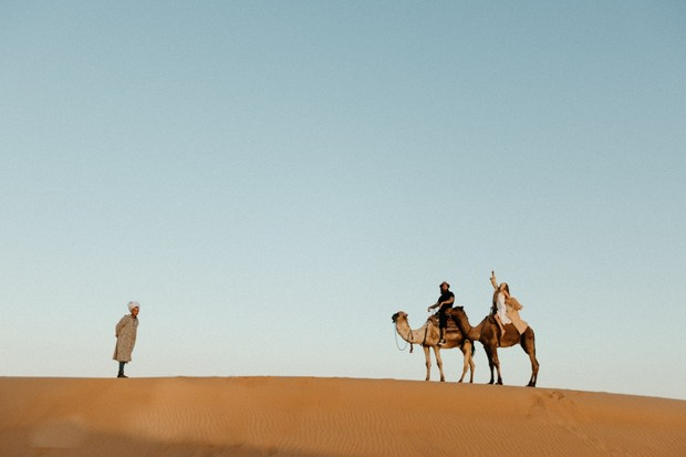 wedding camel rides in the Sahara desert