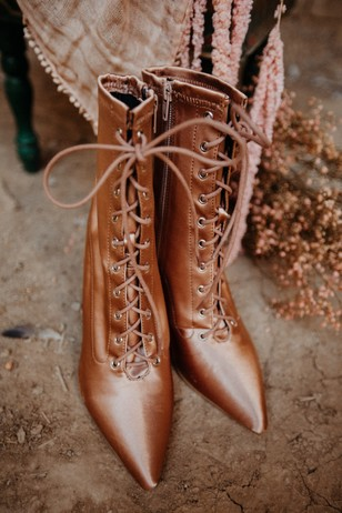 glam rose gold wedding booties