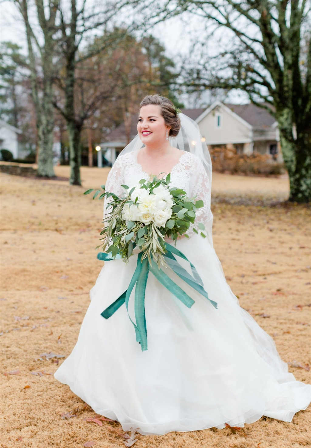 MEGAN + JEFF'S EMERALD AND WHITE WEDDING