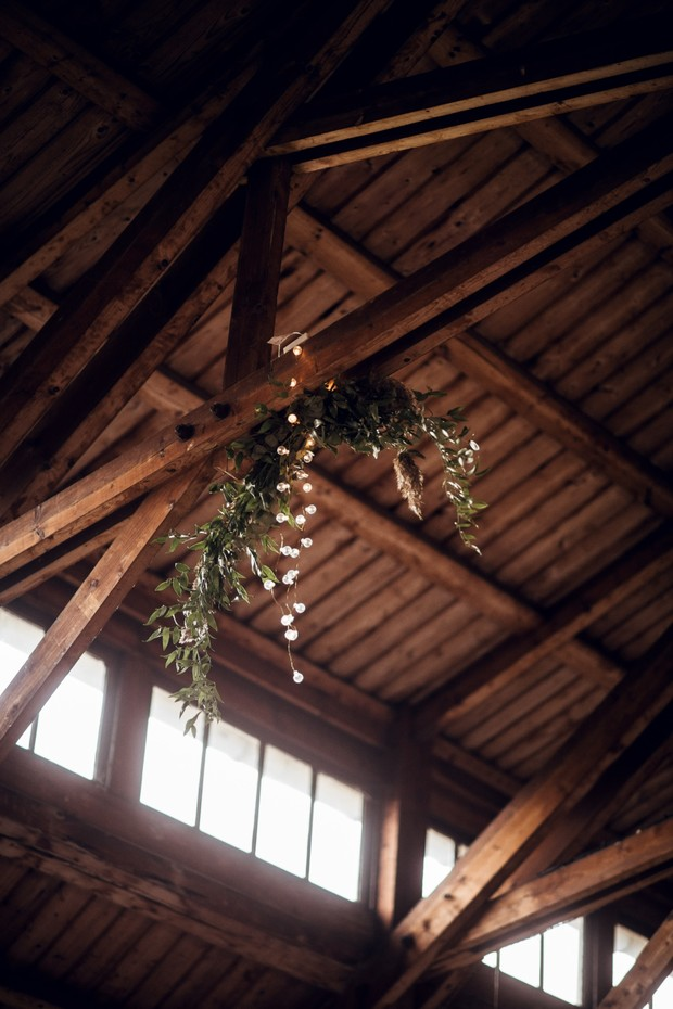 hanging florals for your wedding reception