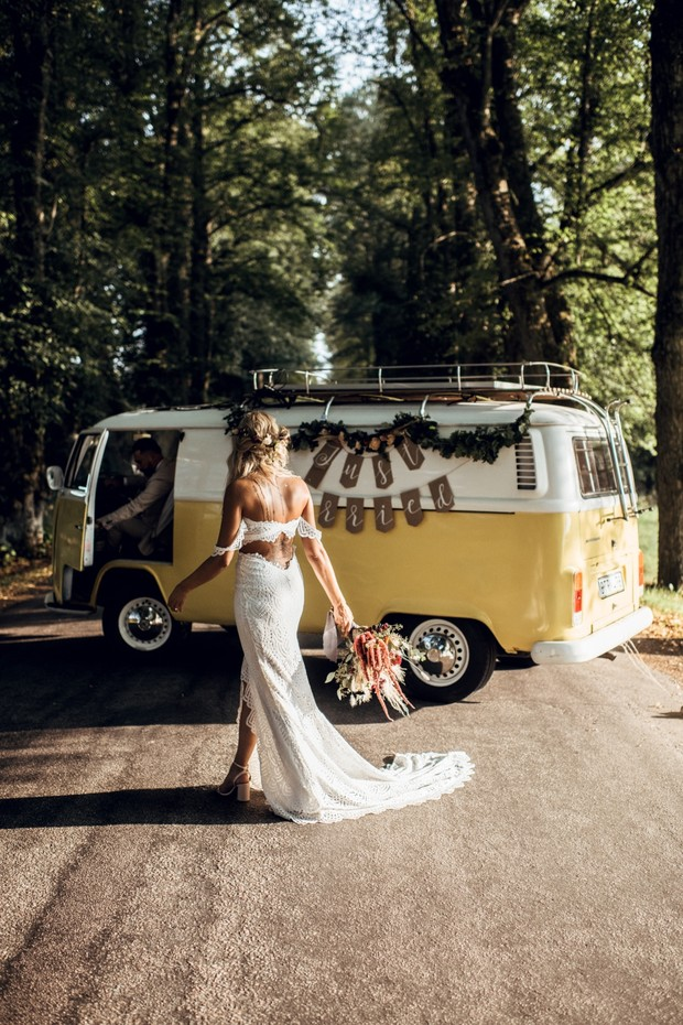 just married VW bus