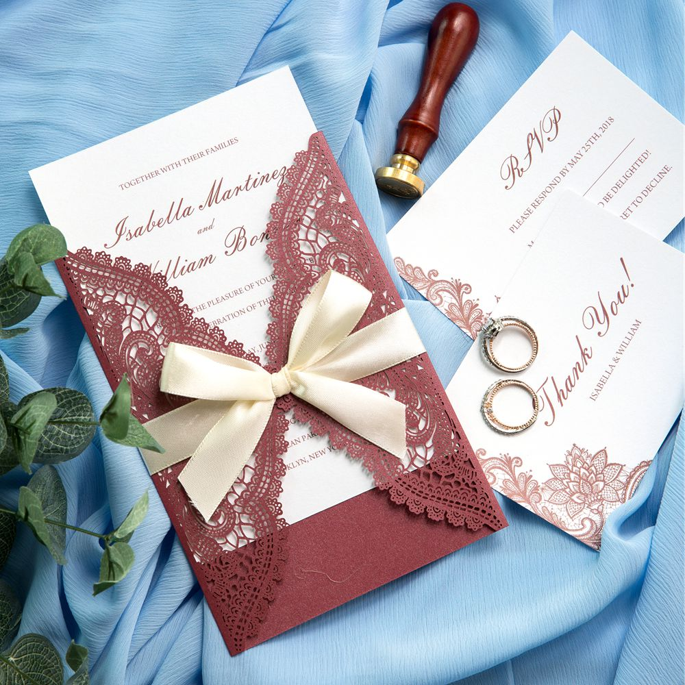 Burgundy is a very fashionble and common color for wedding days. You can add this vintage kind of red color to many elements such as