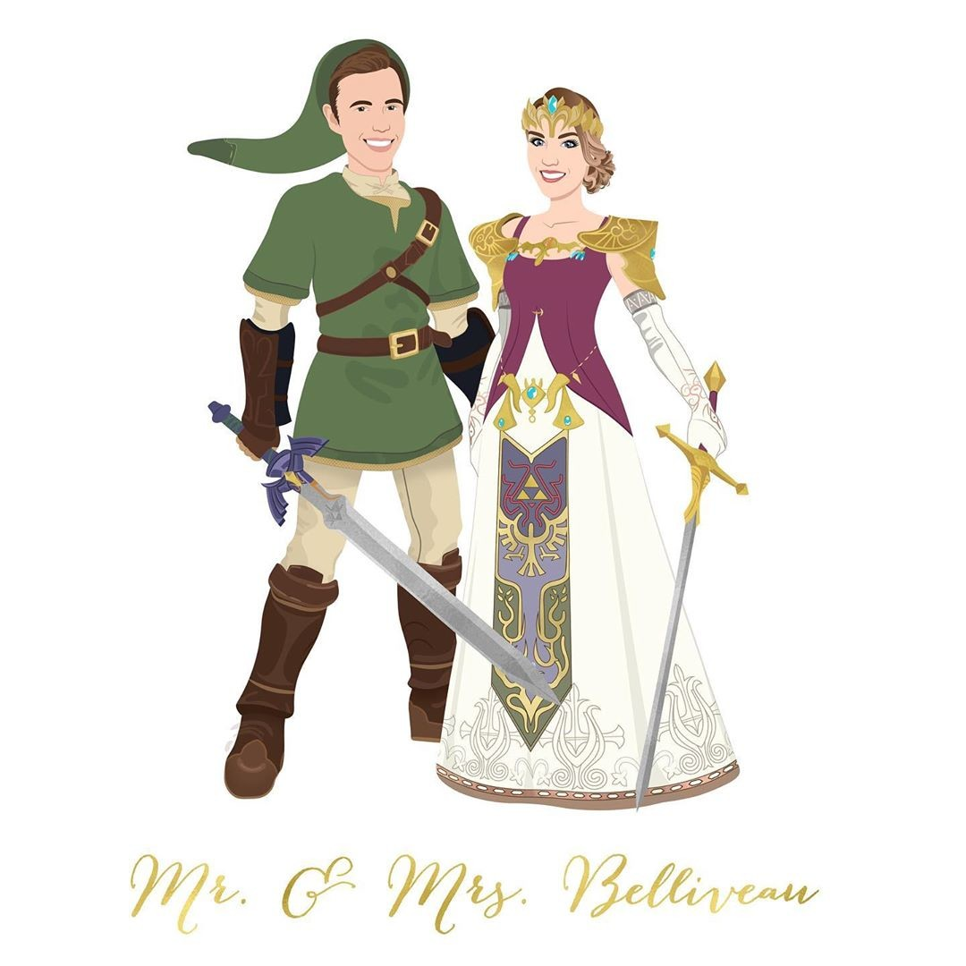 This fun couple wanted to showcase their love for Legend of Zelda in their custom design, and honestly we are LIVING for it �