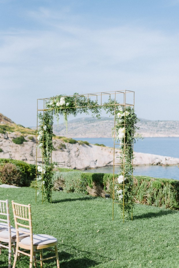 modern floral arch for your wedding ceremony backdrop