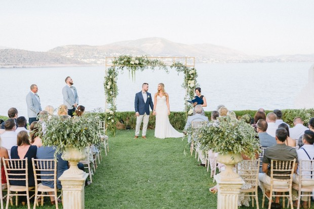 outdoor wedding in Greece