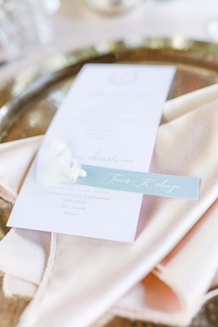 soft blush and gold place setting