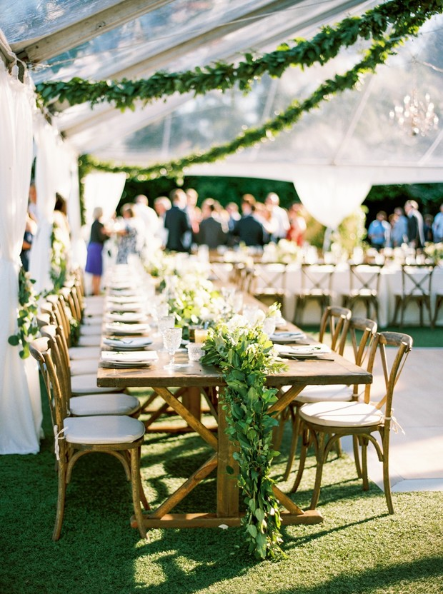 garden party tented wedding reception