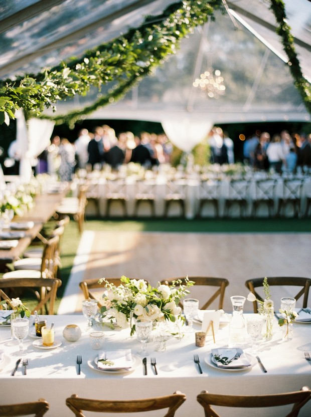 A Chicest Little Tented Backyard Wedding