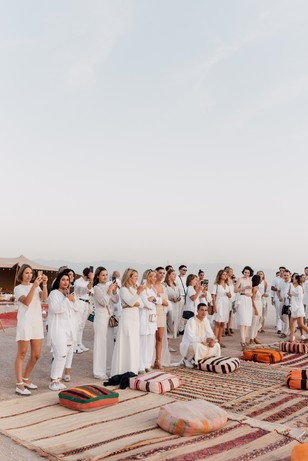 wedding guests in Morocco