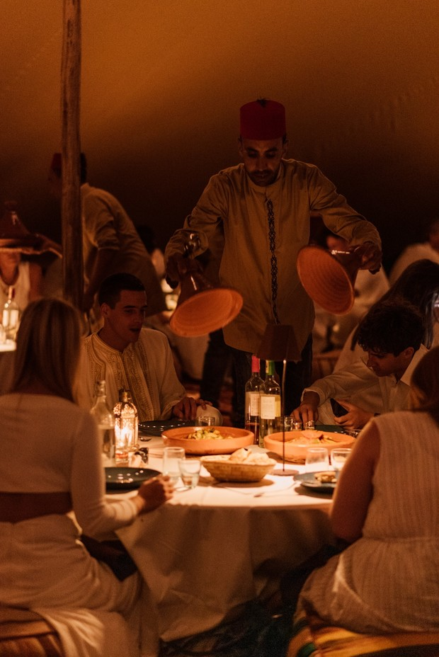 traditional Moroccan style wedding dinner
