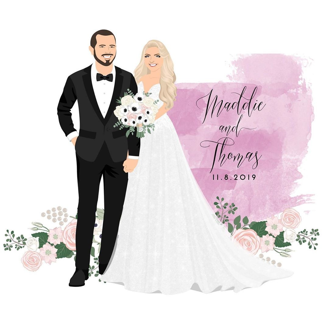 ⁠Watercolor and flowers galore! 😍 Isn't this such a gorgeous design? (We may be a little biased, what can we say?) Maddie and