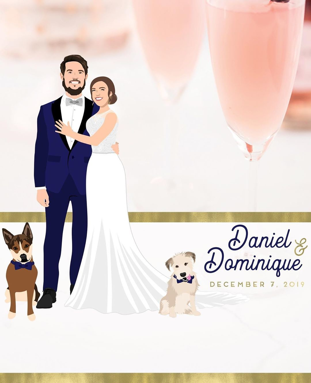 Daniel and Dominique had the right idea when they ordered a custom Snapchat filter from us! 😉 If you're not big on traditional wedding