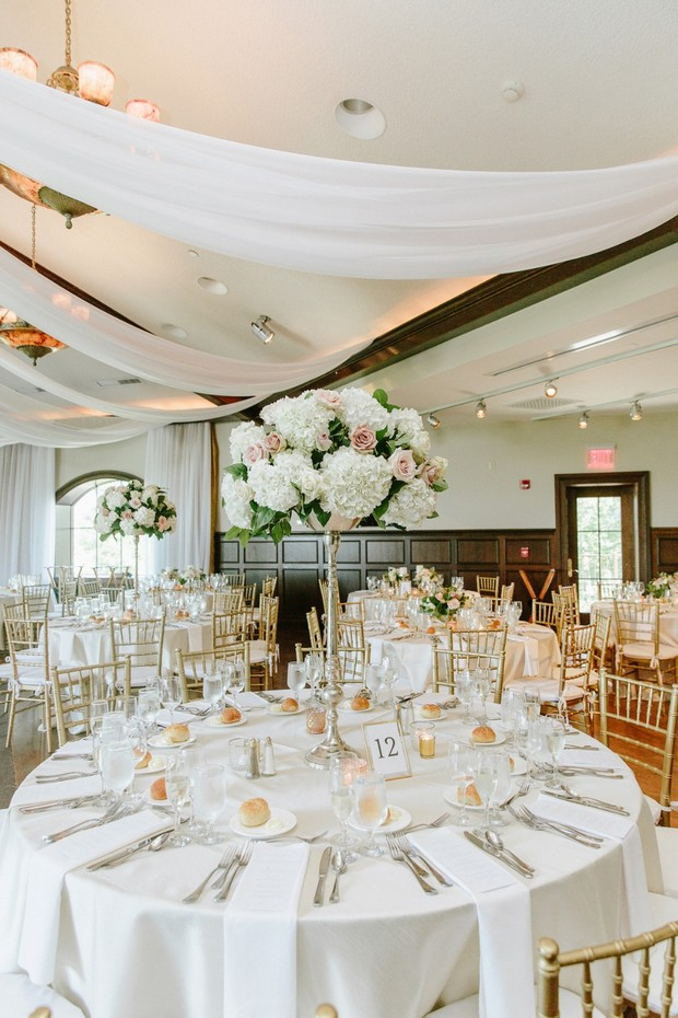 fancy indoor wedding reception