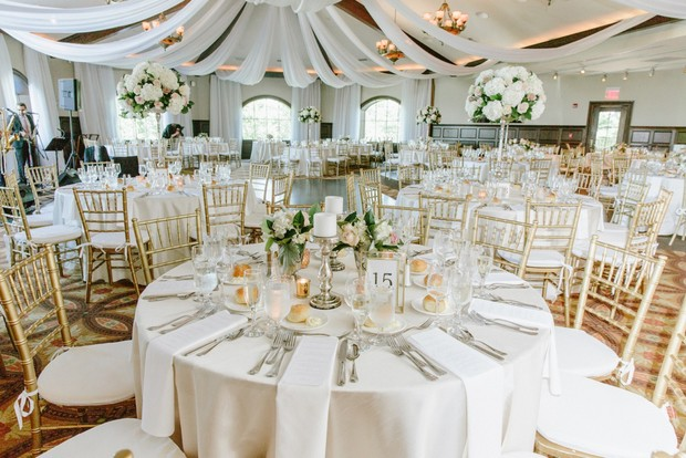 elegant indoor wedding reception