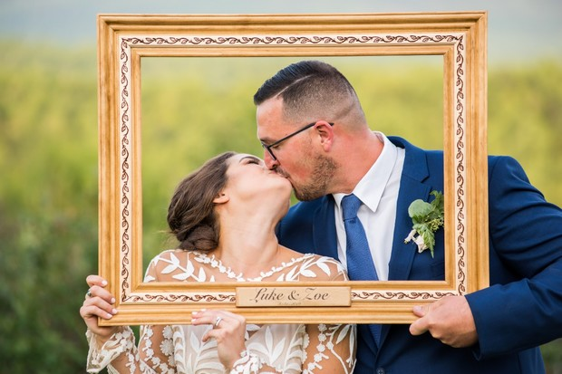 wedding photo booth with frame