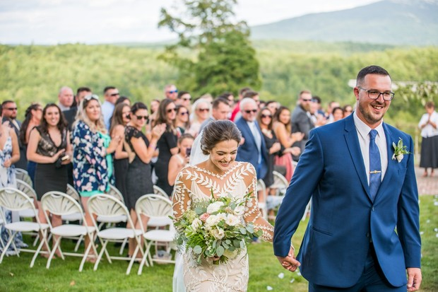 just married! outdoor farm wedding