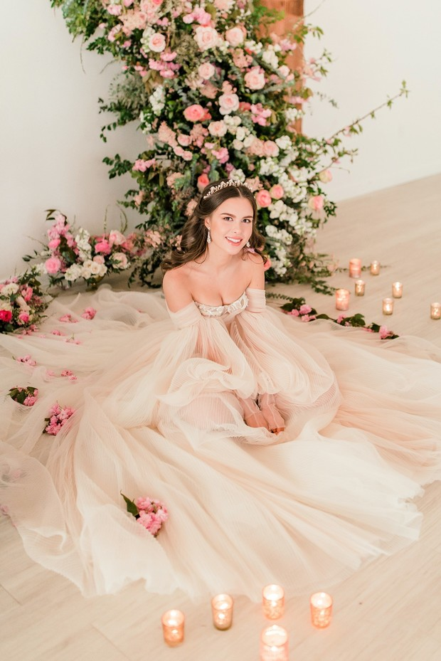 romantic bridal style in pink