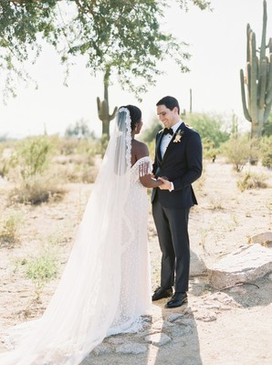 Blue And Copper Southwest Wedding In The Desert