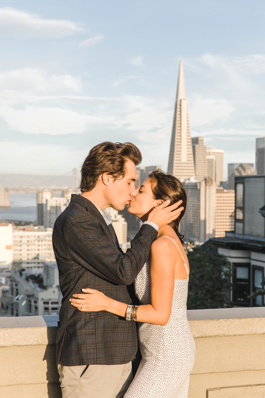 There is nothing like a gorgeous sunset in San Francisco especially with these two love birds.