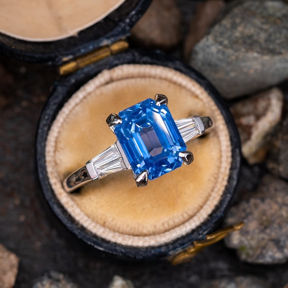 Swipe through today's new arrivals, including this stunning no heat 5 carat silky blue sapphire.