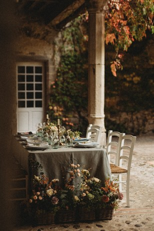 late summer table decor