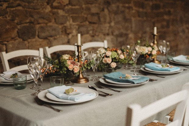 garden boho wedding table decor