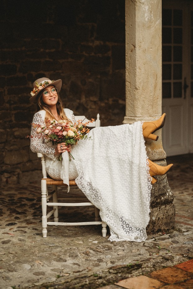 cute and fun boho bride