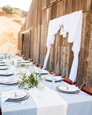 laidback and rustic wedding reception